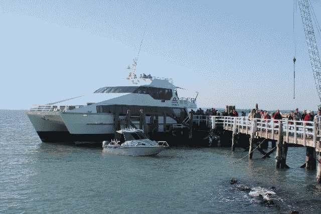 ferry-vulkaan eiland Rangitoto