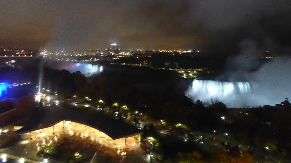 Hotel uitzicht op watervallen