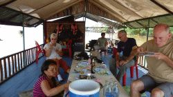 Lunch op de Mekong