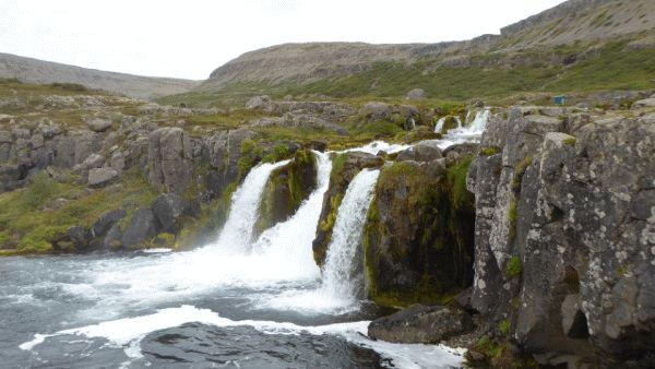 Dynjandi Floss watervallen