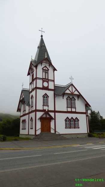 ijsland Houten kerk Husavik