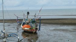 vissersbootjes op Bali