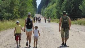 familie wandelaars Litouwen