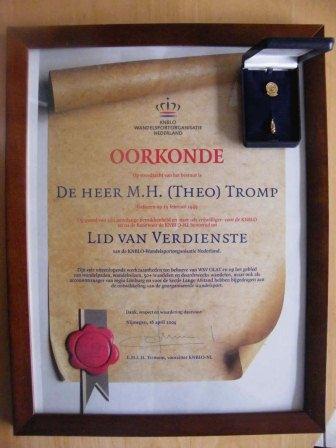 Lid van Verdienste KNBLO-NL